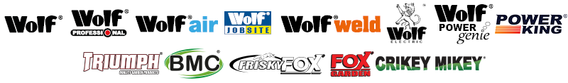 Wolf, Wolf Professional, Wolf Air, Wolf Weld, Wolf Power Genie, Wolf Electric and many more brands available at Tools-To-Go eBay Shop