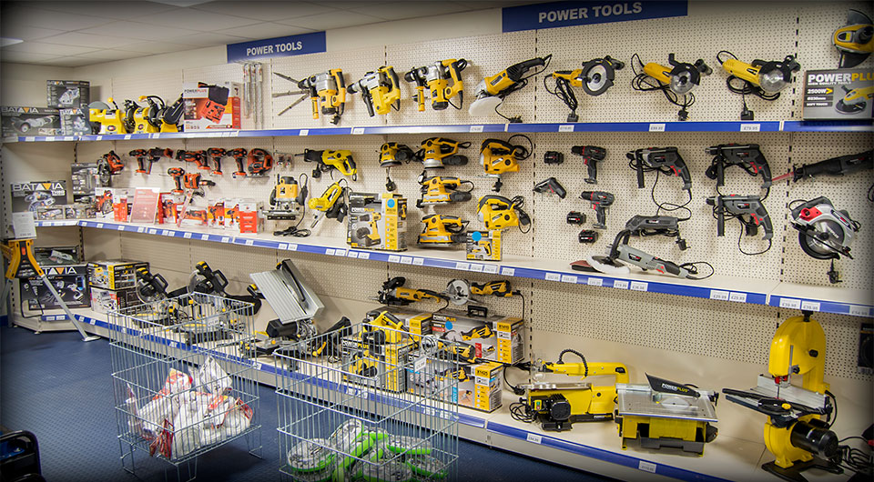 Power Tools displayed on site